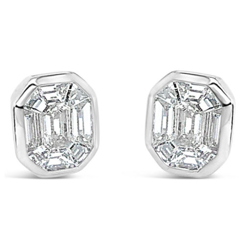 Facet Collection Geometric Diamond Earrings