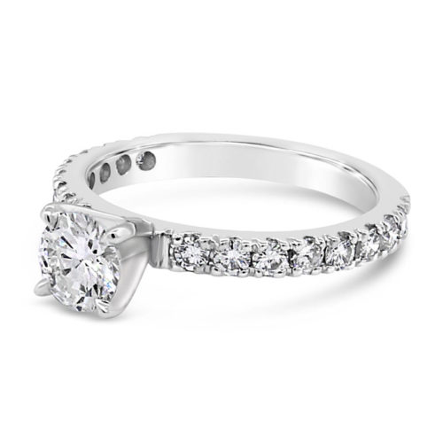 Fishtail Style Diamond Engagement Ring