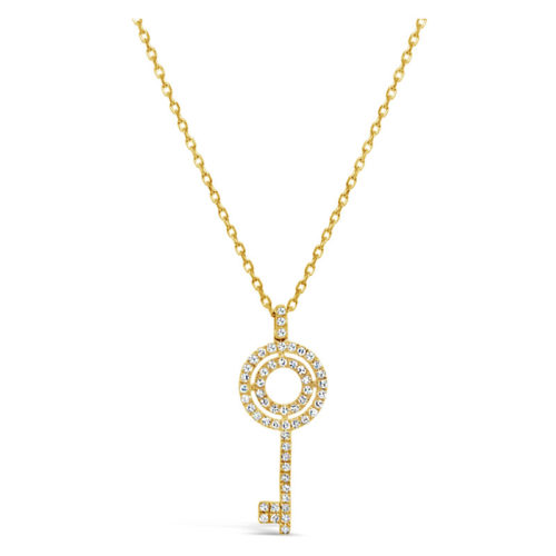 Facet Collection Key Necklace