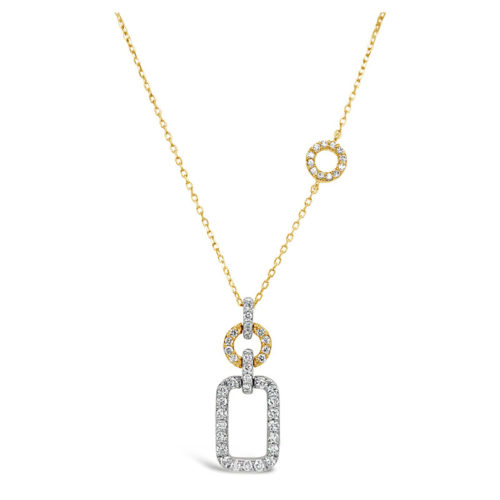 Facet Two-Toned Diamond Necklace